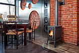 Печь-камин-плита чугунная Kratki Koza K10 подача воздуха ASDP (дымоход 150 мм), фото 6