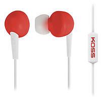 Навушники вакуумні з мікрофоном Koss KEB6i Red