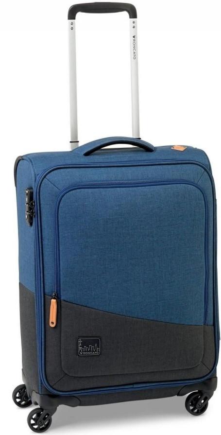 Современный чемодан дорожный 43 л Roncato Adventure 414323/23, темно-синий