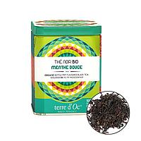 Органический чёрный чай с ароматом нежной мяты, 50г , Terre d'Oc