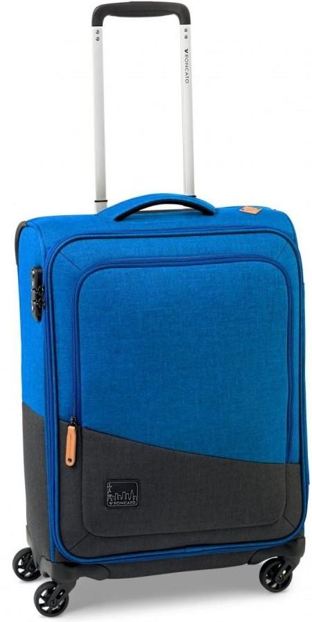 Стильный чемодан дорожный 43 л Roncato Adventure 414323/38, голубой