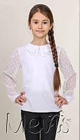 Нарядная блузка на девочку в школу 1943 белый