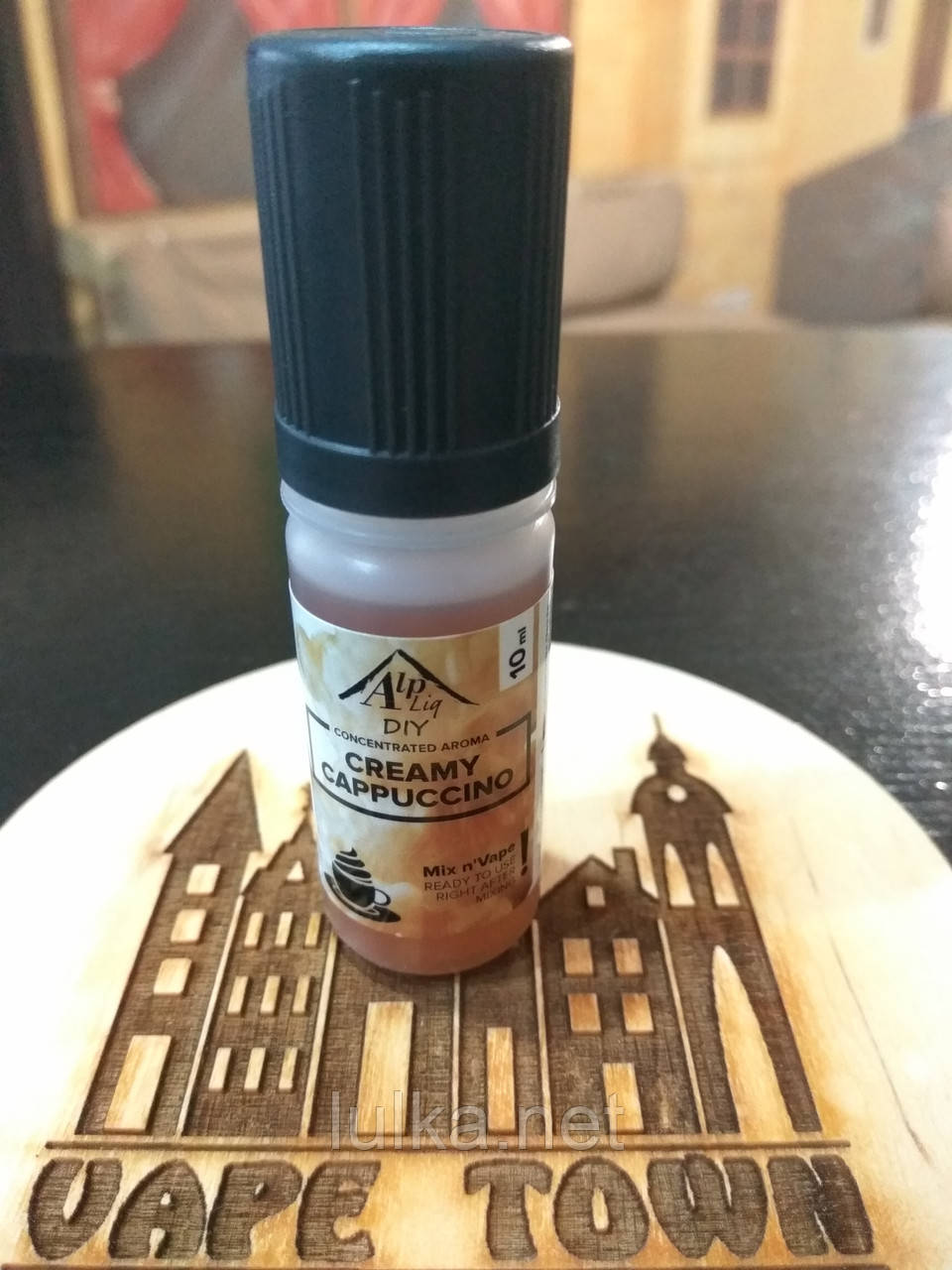 Натуральный ароматизатор AlpLiq Creamy Cappuccino (капучино со сливками) 10мл.