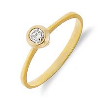 Золотое кольцо с бриллиантом 0,13 карат