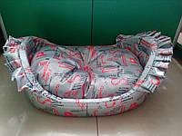 "Спальное место, лежак для собак и кошек ""Люлька""  55х44х19см"