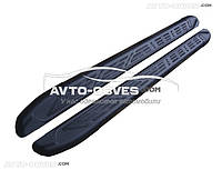 Боковые подножки для Nissan Juke 2010-2014 (стиль Audi Q7 black)