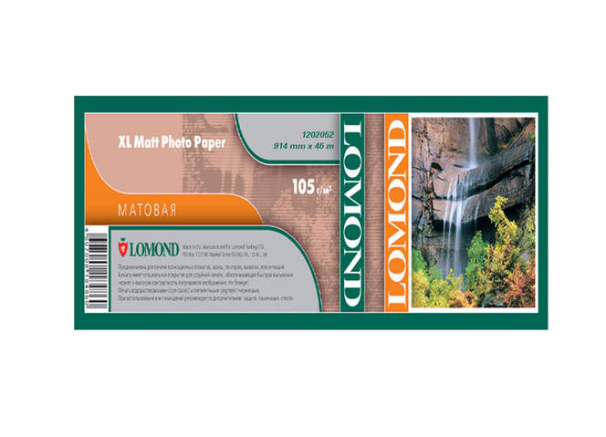 Бумага Lomond для струйных принтеров, матовая, 105 г/м2, 914 мм х 45 метров