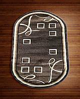 Ковер темно-коричневый абстракция