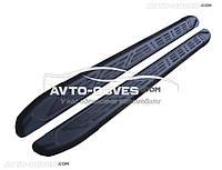 Штатные боковые подножки для Hyundai Tucson 2015-2017, в стиле Audi Q7 черные