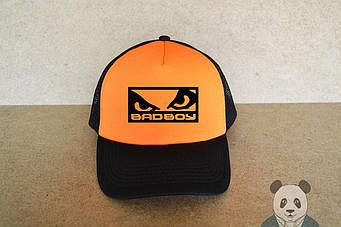 Кепка Тракер Bad Boy черная с оранжевым
