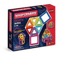 Магнитный конструктор 30 элементов, Базовый набор, Magformers
