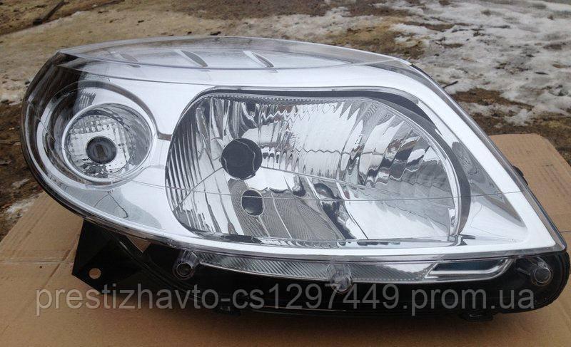 Фара на Renault Sandero 2008-2013 (правая, хром)