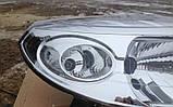 Фара на Renault Sandero 2008-2013 (правая, хром) , фото 2