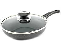 Сковорода с тефлоновым покрытием D 26 Мрамор  PN-26H