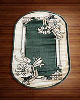 Ковер зеленый цветочный мотив
