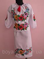 """Підліткове плаття - вишиванка """"Кольоровий мак"""""""