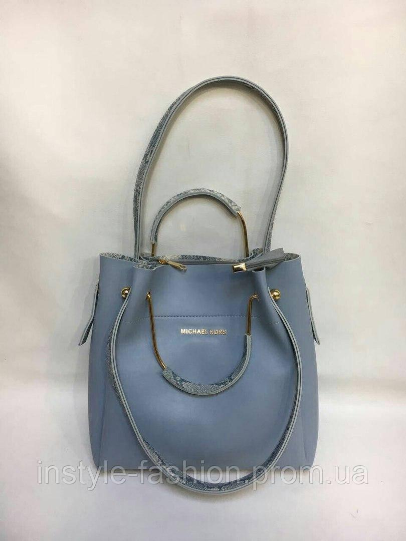Модная сумка Michael kors MICHAEL KORS с ручками цвет голубой