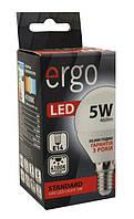 Лампа led 5Вт 4100K E14 G45 220В 460Lm Ergo