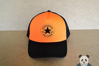 Кепка Тракер Converse черная с оранжевым