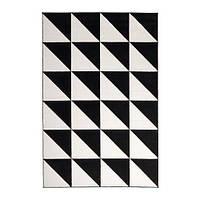 Ковер черно-белый Triangle