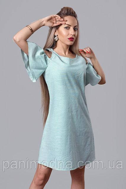 """Супер модное платье с пояском из тонкого лена   - """"Мона""""  код 515, фото 1"""