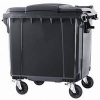 Контейнер для сміття 1100 л плоска кришка