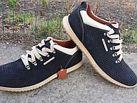 Кожаные мужские мокасины кроссовки