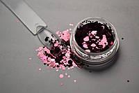 """Чешуя mix, бракард для дизайна ногтей металик """"розовый кедр"""" 0.5-3 мм"""