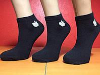 Носки женские летние сетка «Apple» чёрные