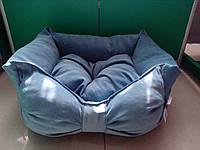 """Спальное место, лежак для собак и кошек """"Бант 2"""" 58х53х22 см"""