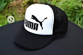 Кепка Тракер Puma черная с белым