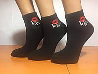 Носки женские летние сетка «KISS» чёрные, фото 1