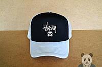 Спортивная кепка Stussy,Стусси, тракер, летняя кепка, мужская, женская, белого и черного цвета,копия