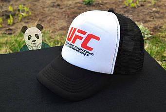 Спортивная кепка UFC, ЮФС, тракер, летняя кепка, мужская, женская, черного и белого цвета, копия