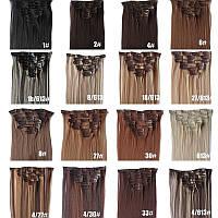 Трессы, накладные термо волосы для наращивания на заколках, набор из 12 прядей