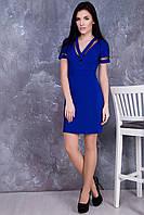 Стильное платье Лоренс электрик ТМ Irena Richi 42-48 размеры