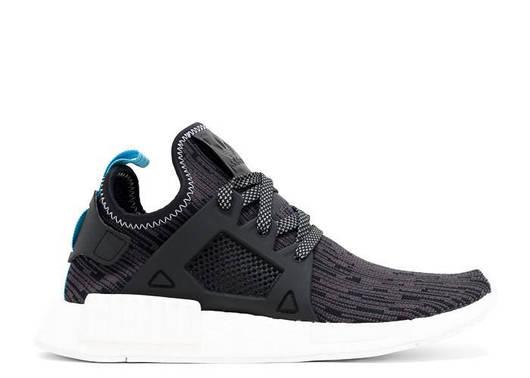 Мужские кроссовки Adidas NMD XR1 Primeknit - Utility black/Bright blue