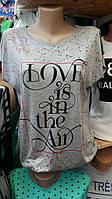 Стильная футболка для девочек LOVE is размеры: 158,164,170,176 роста