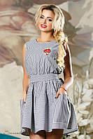 Женское летнее платье с карманами хлопок