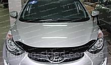 Дефлектор Хендай Елантра 5 МД (мухобійка на капот Hyundai Elantra)