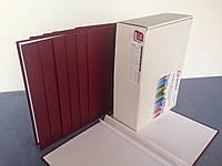 """Папка для переплета """"Лен"""", цвет бордовый, толщина корешка 20 мм (книжный вариант переплета)"""