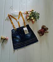 Детская юбка джинсовая с подтяжками Турция