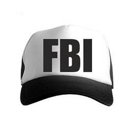 Спортивная кепка FBI, ФБИ, тракер, летняя кепка, мужская, женская, белого и черного цвета, копия