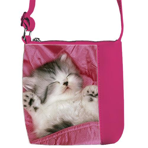 Розовая сумка для девочки Mini Miss с кошкой