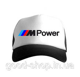Спортивная кепка BMW, БМВ, тракер, летняя кепка, мужская, женская, черного и белого цвета, копия