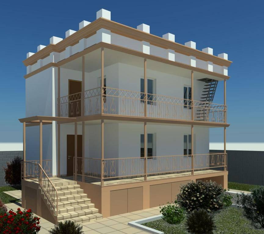 Дизайн фасада дачи в Алтестово