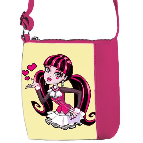 Сумка детская Mini Miss розовая с рисунком Монстр Хай (55010)
