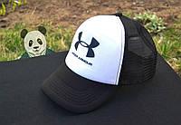 Спортивная кепка Under Armour, Андер Армор, тракер,летняя кепка,унисекс,черного и белого цвета,копия