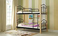 Кровать металлическая Тиара двухъярусная 80 (Мадера / Madera) 820х2012х1750 мм