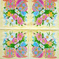 Салфетка декупажная 33x33см 9 Розовые крашанки